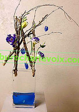 Transparente floristische Kompositionen