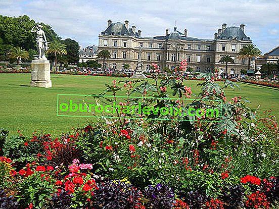 Luxemburg Gärten in Paris