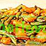 Huhn mit grünen Bohnen und Ingwer in Sauce