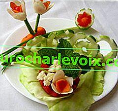 Jednoduché zeleninové dekorace
