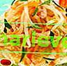 Салата Daikon, скариди и мандарина